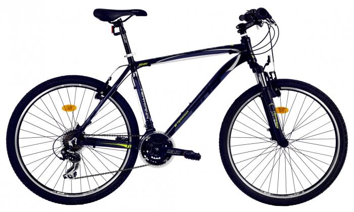 Bicicleta Mtb Dhs Terrana 2623 L Negru/Verde 26 Inch 1