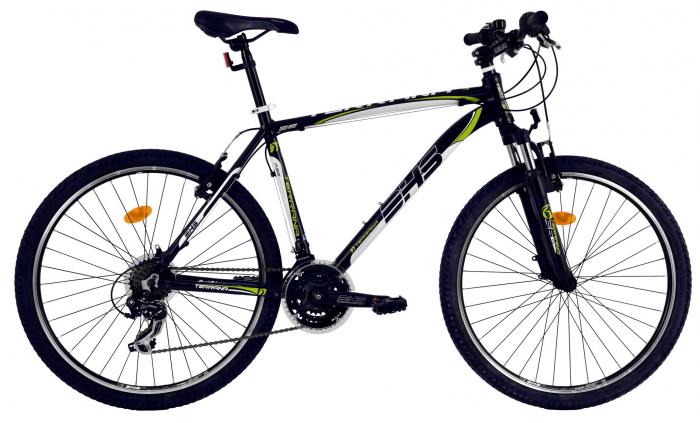 Bicicleta Mtb Dhs Terrana 2623 L Negru/Verde 26 Inch 0