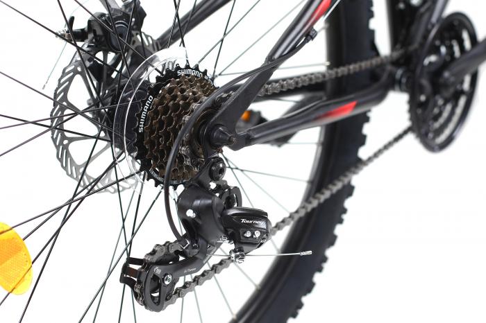 Bicicleta Mtb Dhs Terrana 2645 M Negru/Rosu 26 Inch 9
