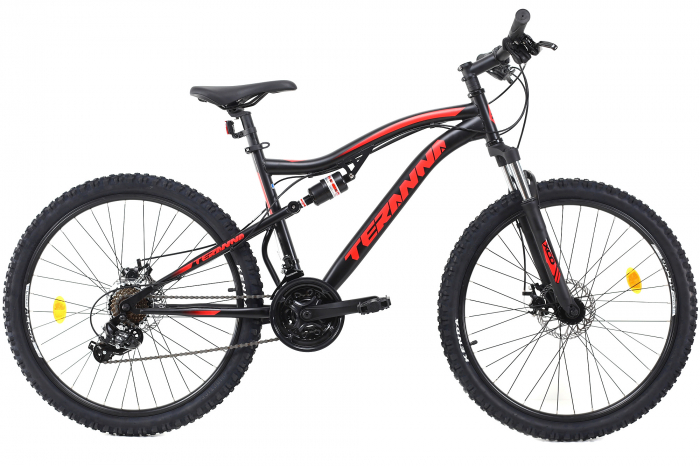Bicicleta Mtb Dhs Terrana 2645 M Negru/Rosu 26 Inch 0
