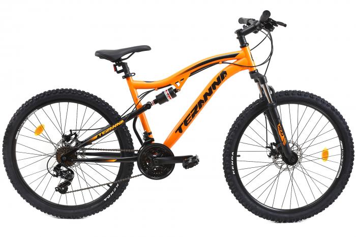Bicicleta Mtb Dhs Terrana 2645 M Negru/Rosu 26 Inch 1