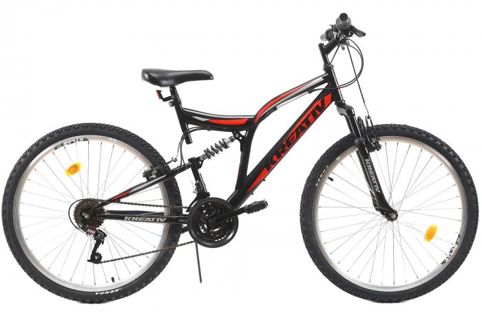 Bicicleta Mtb Kreativ 2641 M Negru/Rosu 26 Inch 0