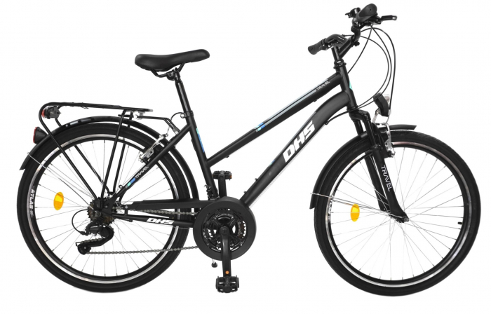 Bicicleta Mtb Travel 2654 - 26 Inch, M, Negru [0]