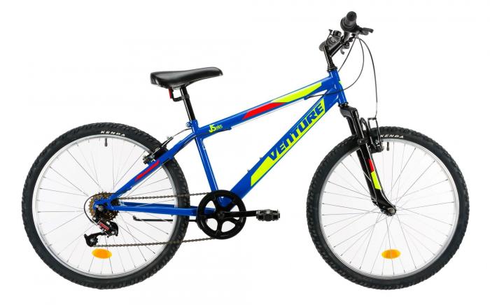 Bicicleta Copii Venture 2419 Albastru 24 Inch 0
