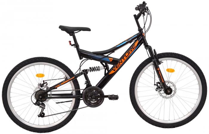 Bicicleta Mtb Venture 2642 Negru-Portocaliu 26 Inch 0