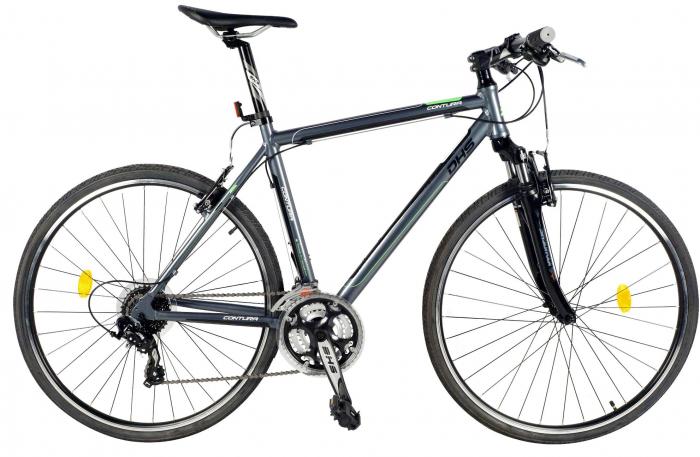 Bicicleta Oras Contura 2865 L 530Mm Gri/Rosu 28 Inch 2
