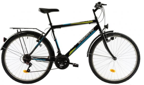 Bicicleta Oras Kreativ 2613 M Gri/Verde 26 Inch 1