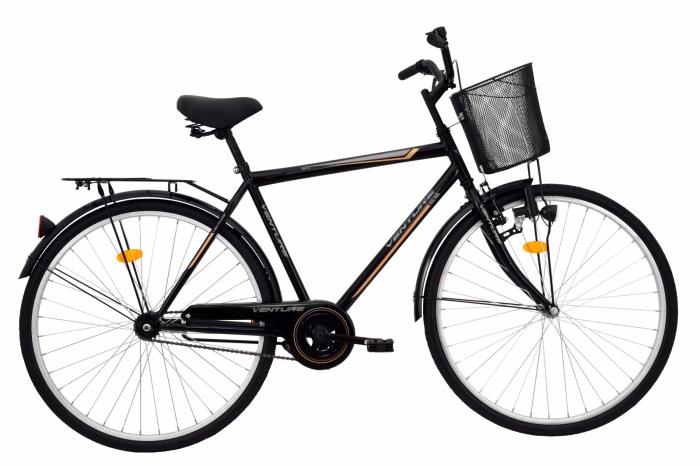 Bicicleta Oras Venture 2817 Negru 2016 L 28 Inch 0
