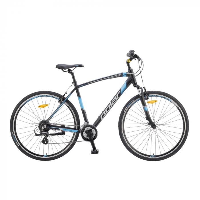 Bicicleta Trekking Polar Forester Comp - 28 Inch, XXL, Negru-Albastru [1]