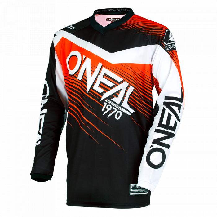 Bluza O'Neal Tricou O'Neal Element Raceware Marimea S, intarituri coate, negru/portocaliu 0