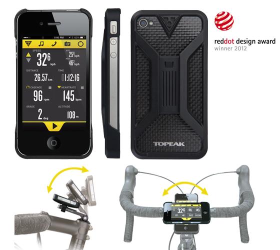 Carcasa Husa Topeak Ridecase Iphone 4, Carbon-Nylon, reglabila, neagra 0