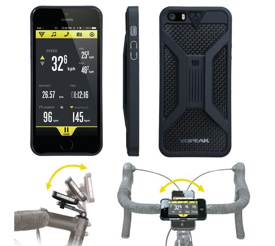 Carcasa Husa Topeak Ridecase Iphone 5, Carbon-Nylon, anti-shock, neagra 5