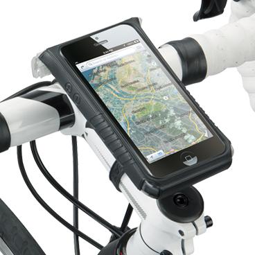 Carcasa Husa Topeak Ridecase Iphone 5, Carbon-Nylon, anti-shock, neagra 4