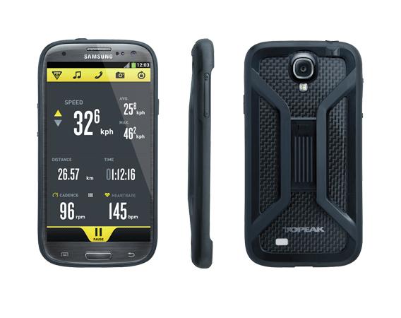 Carcasa Husa Topeak Ridecase Samsung Galaxy S4, Carbon-Nylon, reglabila, neagra 2