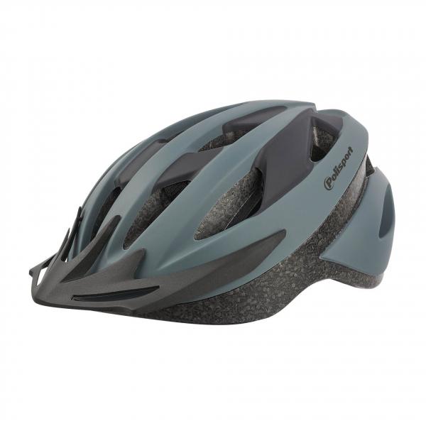 Casca ciclism Polisport Sport Ride, gri-neagra mat, M(54-58) [0]