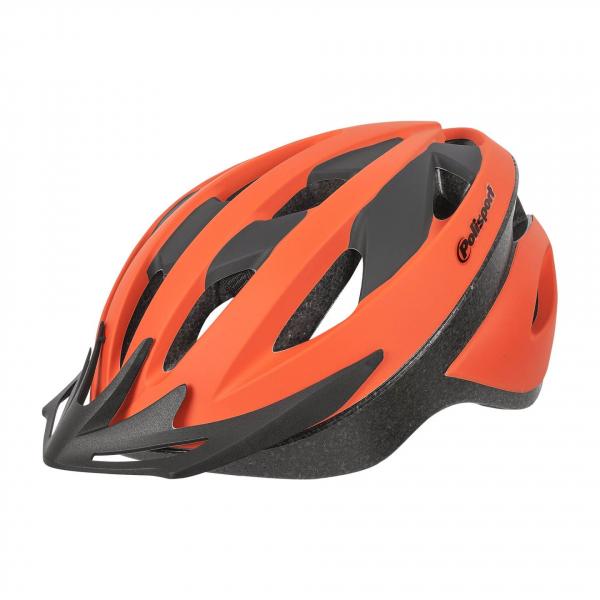 Casca ciclism Polisport Sport Ride, portocalie-neagra mat [0]