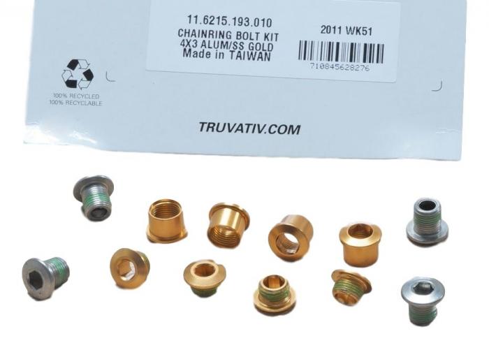 Chain Ring Bolt Kit 4X3 Alumum/Ss Gold [0]