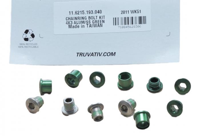 Chain Ring Bolt Kit 4X3 Alumum/Ss Green 0