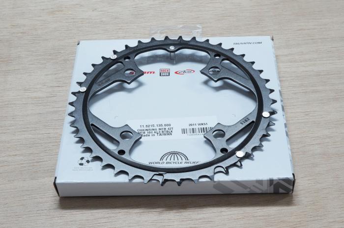 Chain Ring Mtb 42T V4 104 Alum 3Mm Blast Black [1]