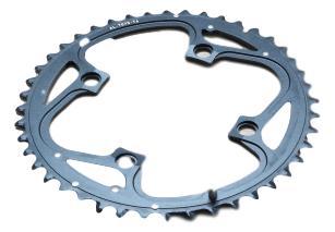 Chain Ring Mtb 44T V4 104 Alum 4Mm Hard Black 0