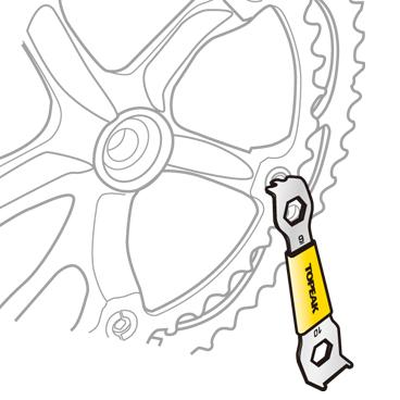 Unealta Cheie Angrenaj Topeak Chainring Nut, Tps-SP11 - Argintiu-Galben [1]