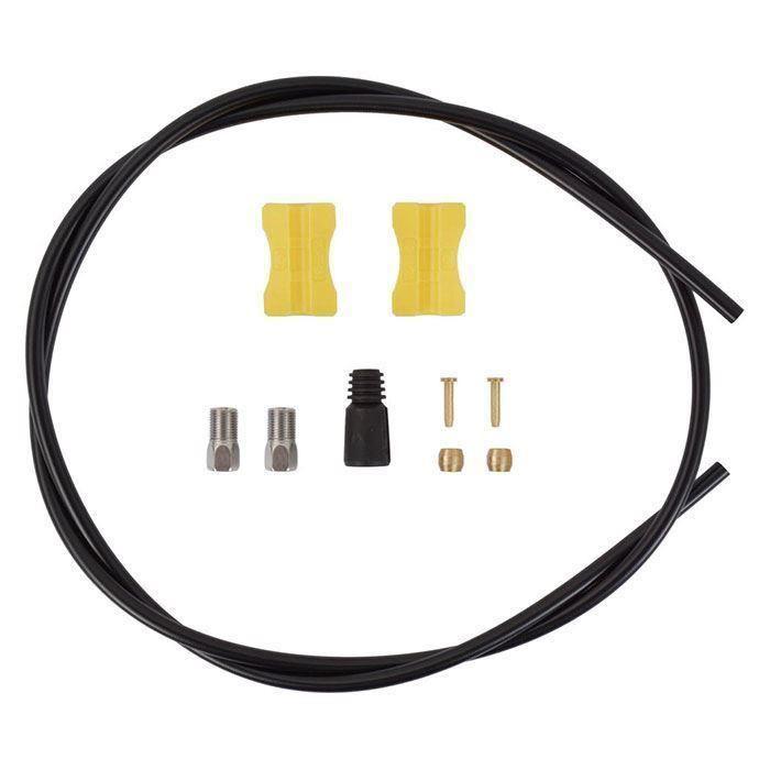 Conducta Hidraulica Frana Disc Shimano Sm-Bh59-Jk-Ss, Od5Mm, Mtb 1700Mm, Cu Conector Tl-Bh61, Neagra 0