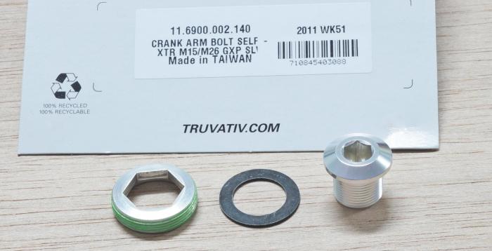 Crank Arm Bolt M15/M26 Alloy Self-Extracting Gxp Silver Qty 1 [1]