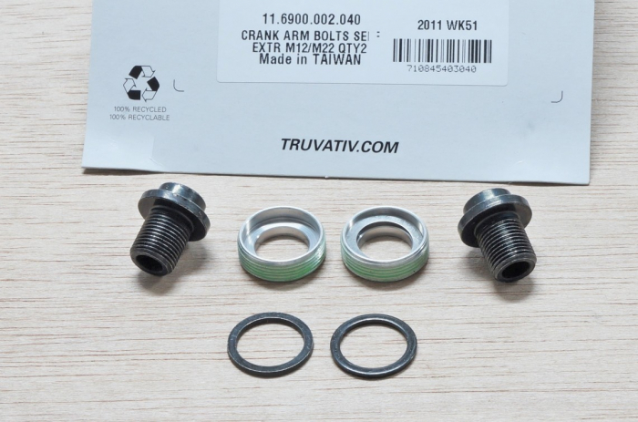 Crank Arm Bolts M12/M22 Crmo Self-Extracting Qty 2 For Howitzer [1]