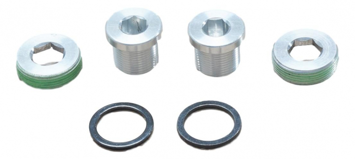 Crank Arm Bolts M15/M22 Alloy Self-Extracting, Qty 2 0