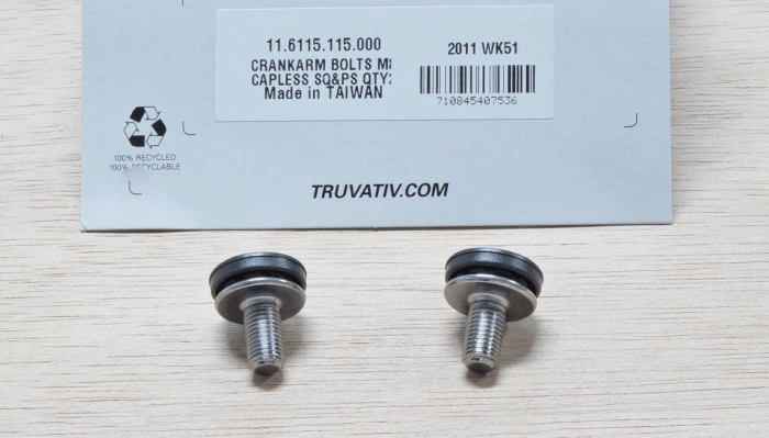 Crank Arm Bolts M8 Capless Qty 2 For Square-Taper & Powerspline 1