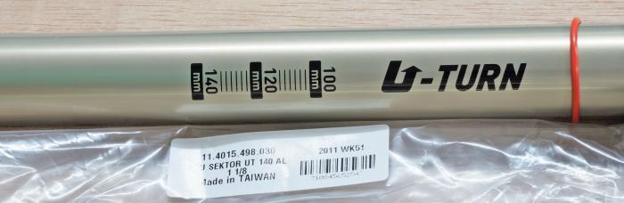 """Csu, U-Turn Coil 140Mm, Aluminum Steerer 1 1/8"""" - Sektor 3"""
