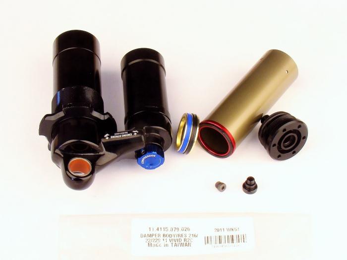 Damper Body/Reservoir Assy, 216X63/222X70/229X70 (Assembled) 2011 Vivid R2C (Compatible With 2009-2010) 1