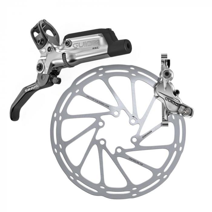Frana Disc Hidraulica Sram Guide Rsc Fata-Stanga, L950, neagra, rotor+adaptor separat [0]