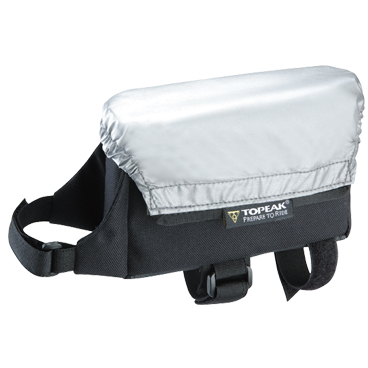 Geanta-Borseta Cadru Topeak Vtri Bag All Weather, husa argintie ploaie, prindere curele cadru fata 0