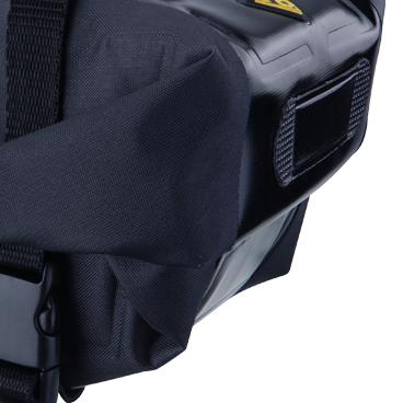 Geanta-Borseta Sa Topeak Wedge Dry Bag, complet rezistenta apa,neagra cu elemente 3M reflectorizante 4