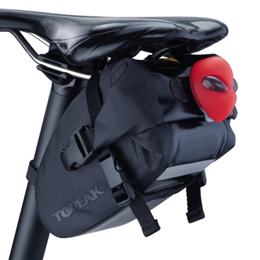 Geanta-Borseta Sa Topeak Wedge Dry Bag, complet rezistenta apa,neagra cu elemente 3M reflectorizante 2