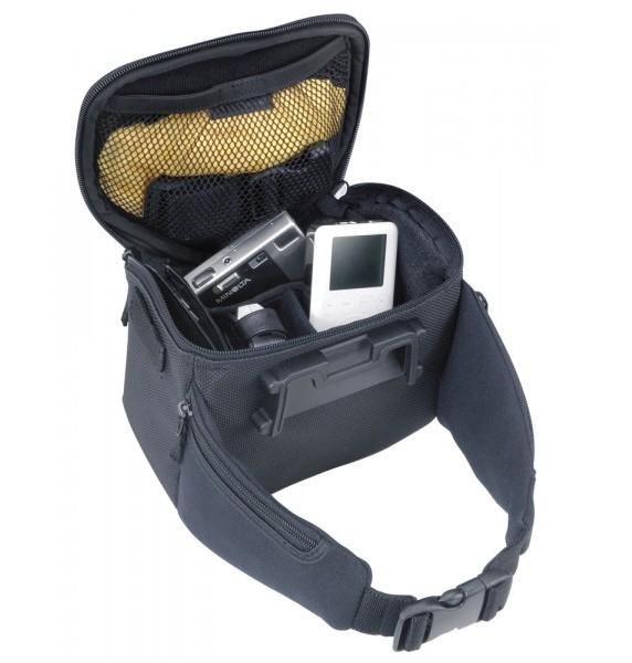Geanta Ghidon Touring Topeak Tour Compact, prindere QR F8, husa ploaie, neagra 1