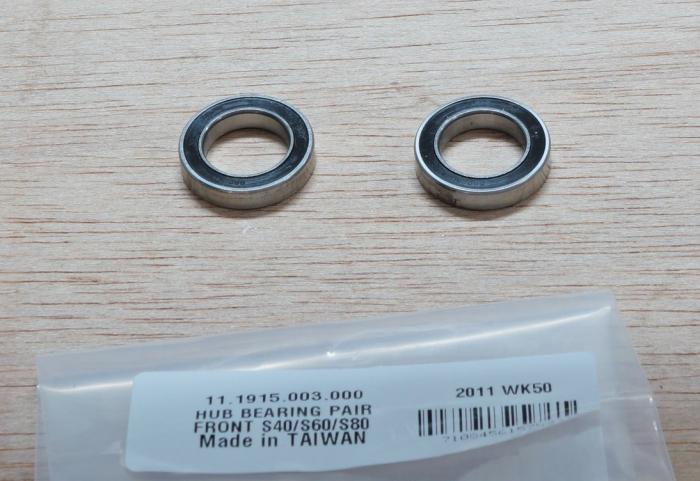 Hub Bearings Front Pair S40/S60/S80 2