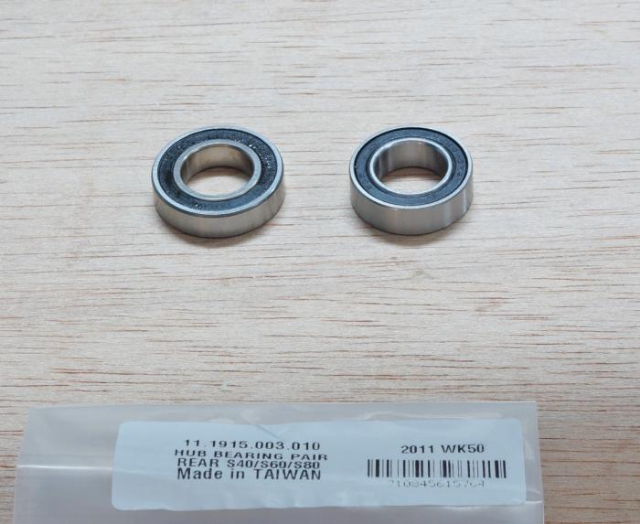 Hub Bearings Rear Pair S40/S60/S80 1
