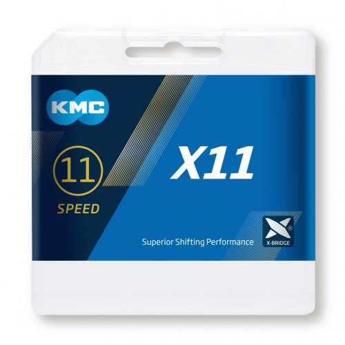 Lant KMC X11, 114zale, argintiu-negru [2]