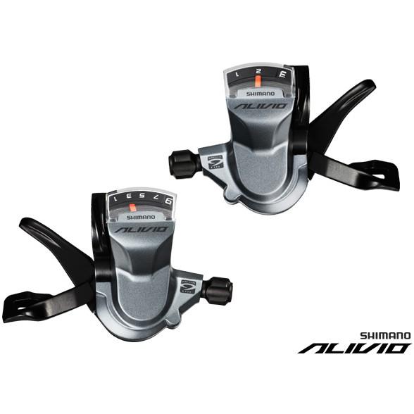 Manete De Schimbator Shimano New Alivio Sl-M4000, Set Stg+Drpt, 3+9V, Cu Afisaj, Cu Cabluri, Negre 0