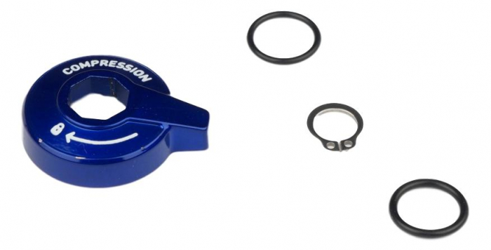Motion Control Compression Knob Standard Adjust Alum W/ Cir-Clip [0]