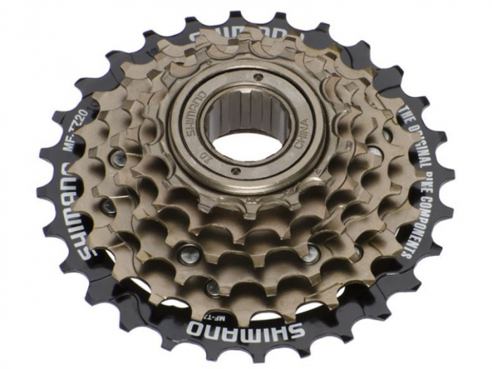 Pinion Filetat Shimano Tourney, Mf-Tz500 - 6, 6Vit, Hg 14-28T, Maro-Negru 0