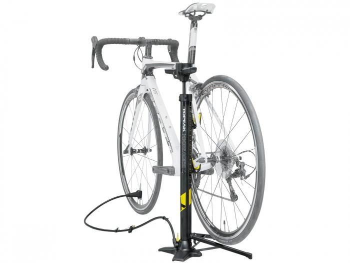 Pompa De Podea Topeak Transformer X Ttf-X01-01, Cu Stand Bicicleta, Neagra 2