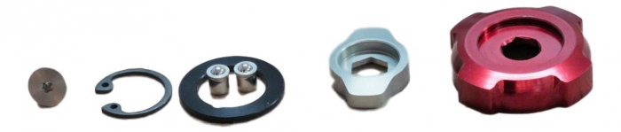 Rebound Damper Adjuster Knob Kit - 2011-2012 Boxxer Team/Wc (Includes Low-Speed And Hi-Speed Adjuster Knobs) Not Compatible With 2010 Boxxer R2C2/Wc 0