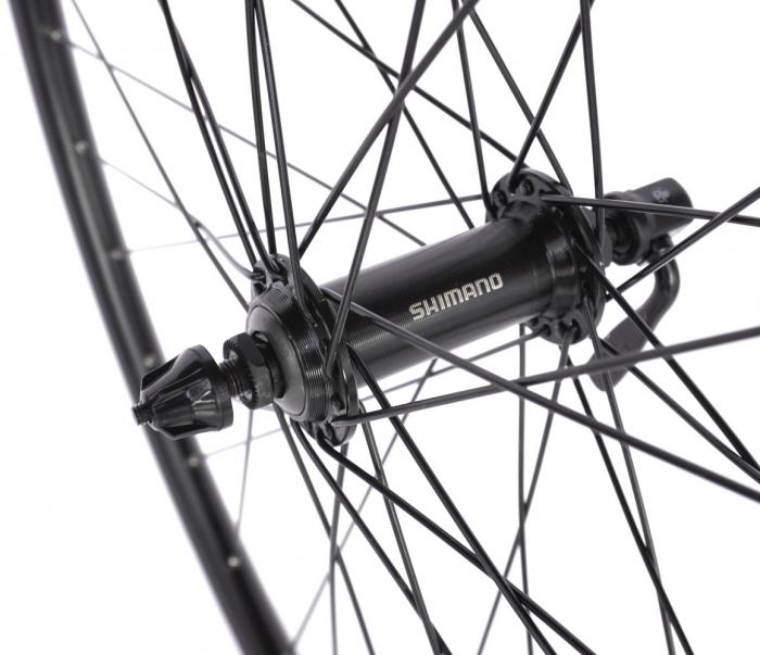 "Roata Bicicleta Fata Atlas 28"", 622X18, V-Brk, Spite Ngr, Butuc Shimano Hb-Tx500,Ax Qr9,36H,1040G,Neagra 2"