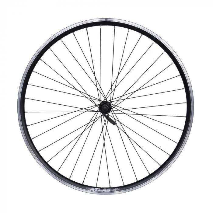 "Roata Bicicleta Fata Atlas 28"", 622X18, V-Brk, Spite Ngr, Butuc Shimano Hb-Tx500,Ax Qr9,36H,1040G,Neagra 0"