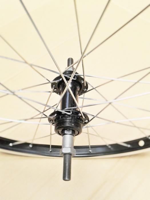 """Roata Bicicleta Spate Luna 20"""", 406X21, Alu Simpla, Neagra, Butuc Viteza Otel Negru 28H 1"""