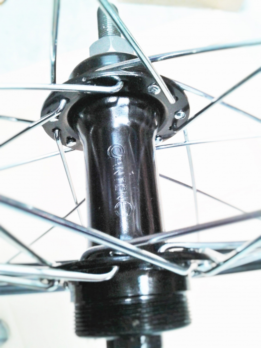 """Roata Bicicleta Spate Luna 20"""", 406X21, Alu Simpla, Neagra, Butuc Viteza Otel Negru 28H 2"""