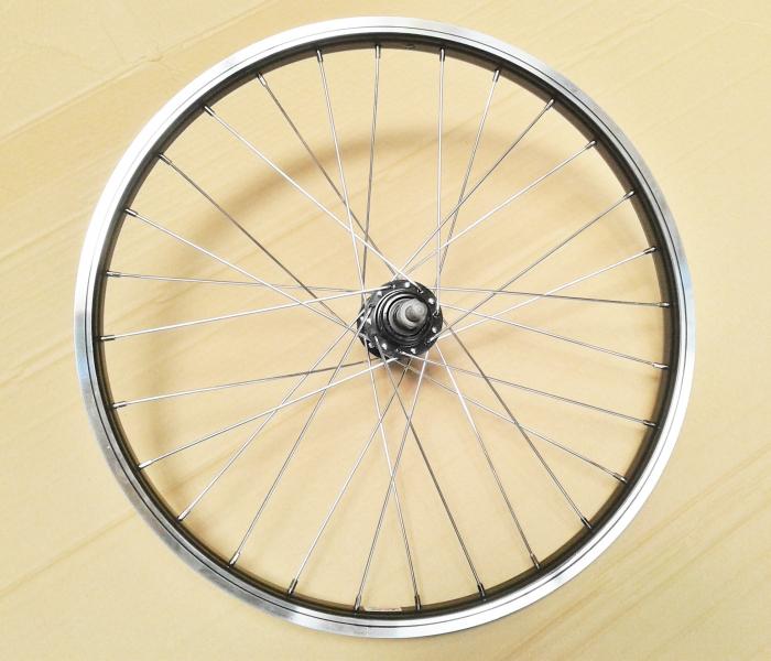 """Roata Bicicleta Spate Luna 20"""", 406X21, Alu Simpla, Neagra, Butuc Viteza Otel Negru 28H 0"""